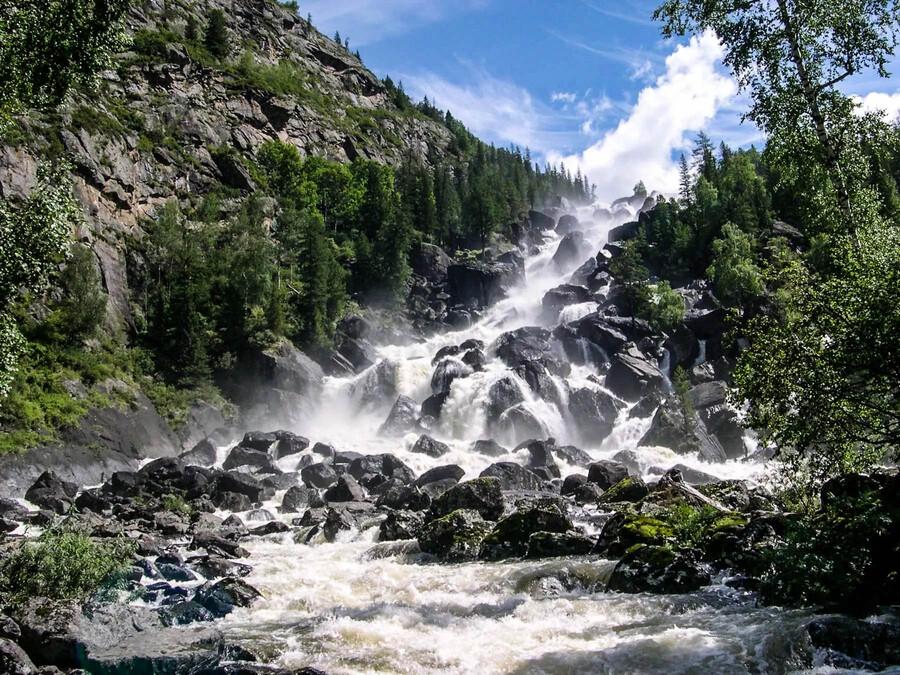 Водопад Учар, Алтай