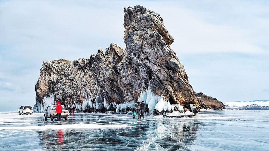 Места для лучшего осмотра льда Байкала